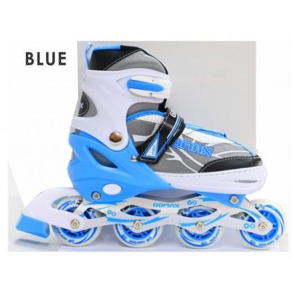 JOM KELLY Children Kid Adjustable Inline Roller Skate Flash Wheels