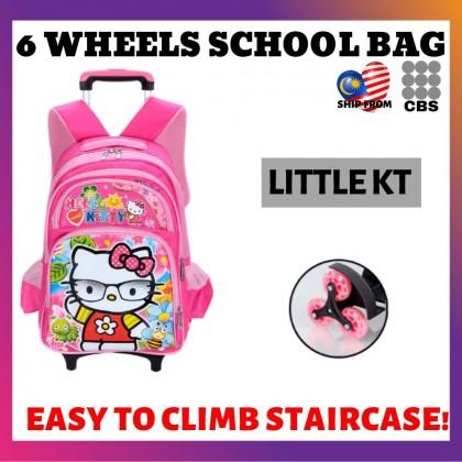JOM KELLY Air Primary School Students Trolley School Bag 6wheel Waterproof Girl Boy