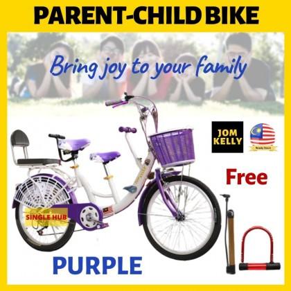 """JOM KELLY Parent Child Bike 22"""" Basikal Ibu Anak Basikal Family Bicycle"""