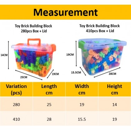 Toy Brick Building Block 300pcs Educational Learning Toy