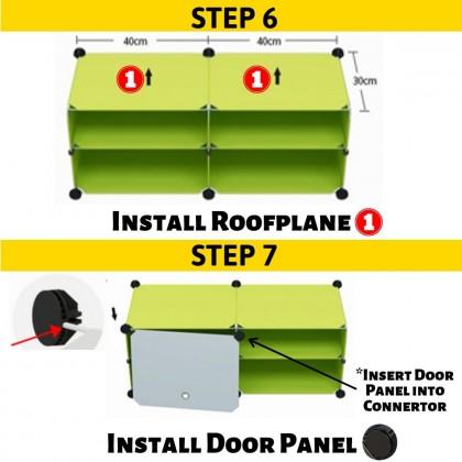 JOM KELLY Dustproof Shoe Rack Multilayer Plastic Shoe Cabinet Anti Dust