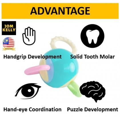 JOM KELLY Toxic Safe Manhattan Baby Teeth Ball Rattle Hand Ball Baby Training Ball Baby Teether