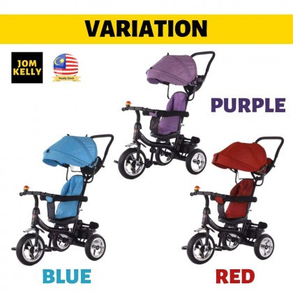 JOM KELLY Push and Ride Swivel Seat Stroller Tricycle Bike