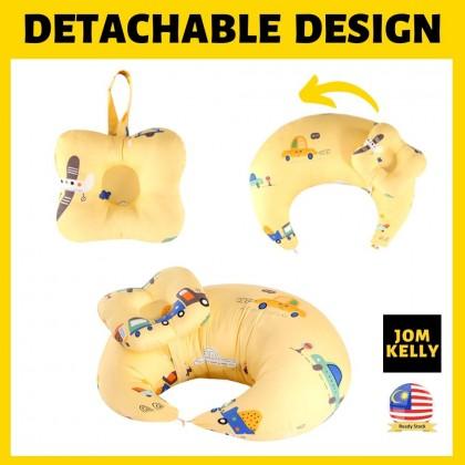 JOM KELLY Premium 2pcs Moon Shape Nursing Pillow Maternity Baby Breastfeed Newborn Head Support Cushion