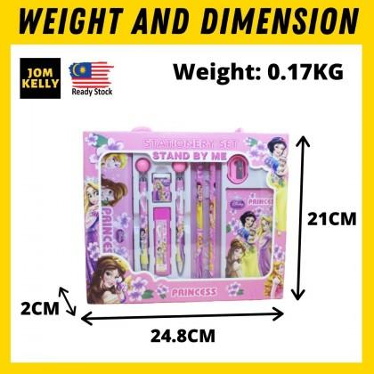 JOM KELLY Premium Cartoon 10pcs Stationery Gift Set Box Primary School Gift Set Mechanical Pencil