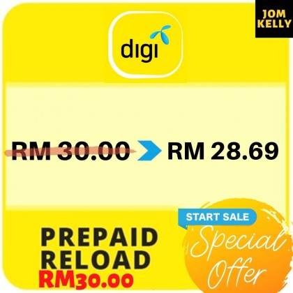 Digi Reload Top Up Instant RM5/RM10/RM30 SPECIAL OFFER!