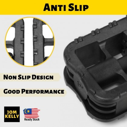 JOM KELLY 1 Pair Bicycle Folding Pedals Cycling Foot Pegs Mountain Road Bike Basikal Pedal Lipat